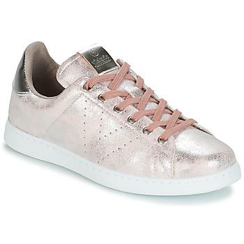 Παπούτσια Γυναίκα Χαμηλά Sneakers Victoria TENIS METALIZADO Ροζ
