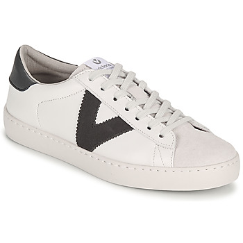 Παπούτσια Άνδρας Χαμηλά Sneakers Victoria BERLIN PIEL CONTRASTE Άσπρο / Grey