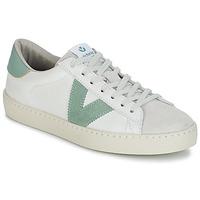 Παπούτσια Γυναίκα Χαμηλά Sneakers Victoria BERLIN PIEL CONTRASTE Άσπρο / Green