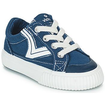 Παπούτσια Παιδί Χαμηλά Sneakers Victoria TRIBU LONA RETRO Μπλέ