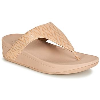 Παπούτσια Γυναίκα Σαγιονάρες FitFlop LOTTIE CHEVRON SUEDE Ροζ