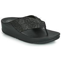 Παπούτσια Γυναίκα Σαγιονάρες FitFlop TWISS CRYSTAL Black