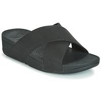 Παπούτσια Γυναίκα Τσόκαρα FitFlop LULU SHIMMERLUX SLIDES Black
