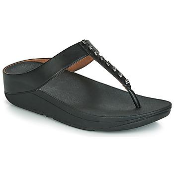 Παπούτσια Γυναίκα Σαγιονάρες FitFlop FINO TREASURE Black