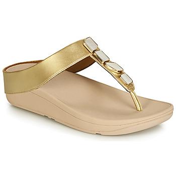 Παπούτσια Γυναίκα Σανδάλια / Πέδιλα FitFlop FINO SHELLSTONE Gold
