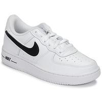 Παπούτσια Παιδί Χαμηλά Sneakers Nike AIR FORCE 1-3 PS Άσπρο / Black